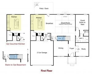 Preswick Plan By Chafin Communities 2020-First Floor