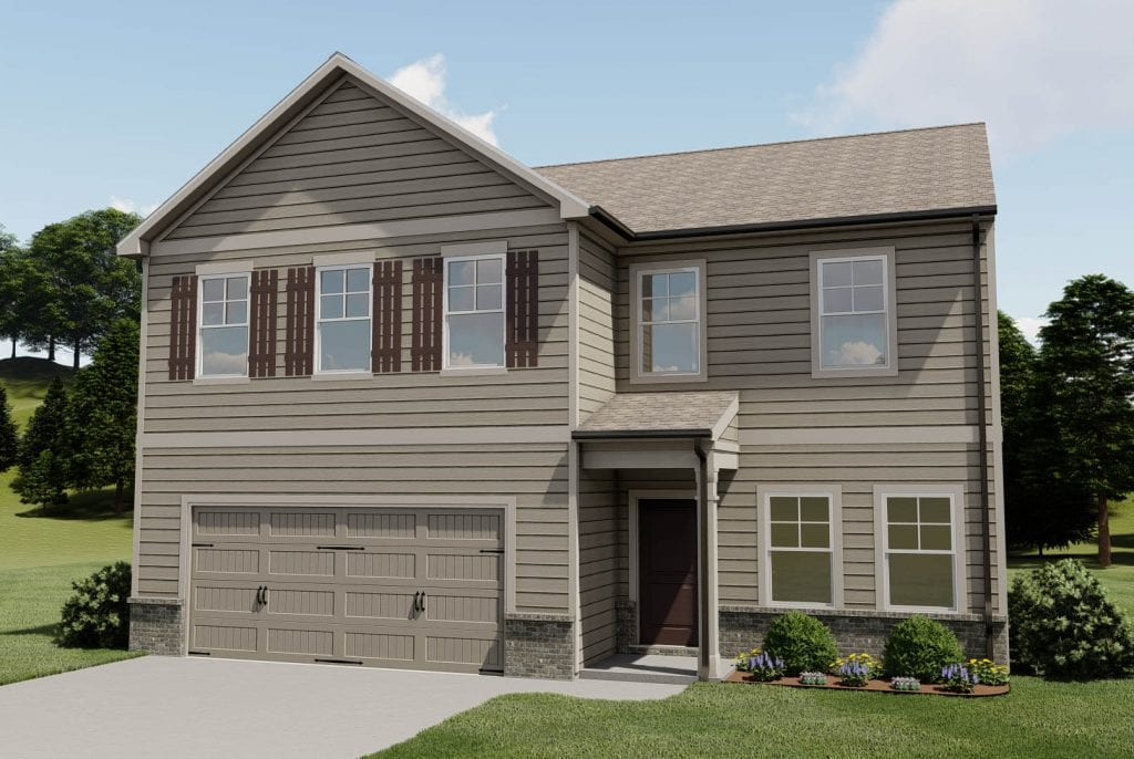 Redford Floorplan | Beds: 4 | Baths: 2.5 - 3.5 Stories: 2  | Sqft: 2517