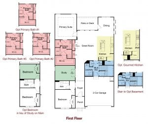 Brookfield Plan by Chafin Communities 2020-First Floor