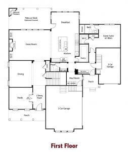 Sherwood Plan by Chafin Communities 2020-First Floor