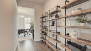 chafin communities industrial shelving in pantry